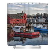 Lobster Boats At Motif 1 Shower Curtain