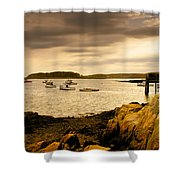 Lobster Boats Cape Porpoise Maine Shower Curtain