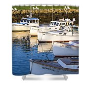 Lobster Boats - Perkins Cove -maine Shower Curtain