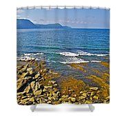 Lobster Cove In Rocky Harbour-nl Shower Curtain