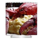 Lobster Dinner Shower Curtain