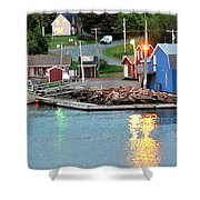 Lobster Fishing Days End Shower Curtain