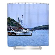 Trawling In Bar Harbor Shower Curtain