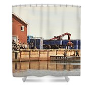 Lobster Fishing Processing Shower Curtain