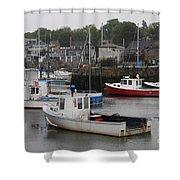 Lobster Fleet Rockport Harbor Shower Curtain