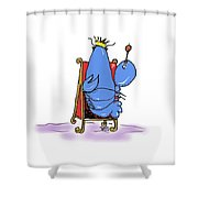 Lobster King Blue-blooded Crustacean Shower Curtain