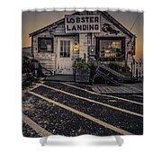 Lobster Landing Shack Restaurant At Sunset Shower Curtain