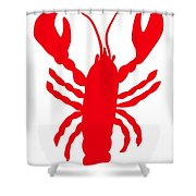 Lobster Love Heart Feelers Shower Curtain