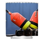 Lobster Pot Buoys Shower Curtain