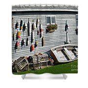 Lobster Pots And Buoys Shower Curtain