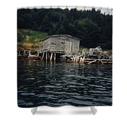 Lobster Pots And Old Stage Shower Curtain