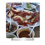 Lobster Puerto Nuevo Style Shower Curtain