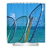 Florida Lobster Diving Tools Shower Curtain