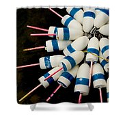 Lobster Trap Bouy Bunch Shower Curtain