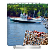 Lobster Trap In Maine Shower Curtain