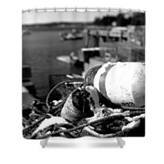 Lobster Traps 07 Shower Curtain