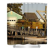 Lobster Traps On Dock Shower Curtain