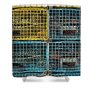Lobster Traps Shower Curtain by Stuart Litoff