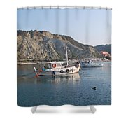 Local Fishing Boats Shower Curtain