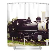 Locamotive Engine Landscape Shower Curtain