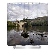 Loch-an-eilein Castle - D003341 Shower Curtain