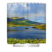 Loch Fada To The Storr Shower Curtain