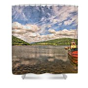 Loch Fyne Digital Painting Shower Curtain