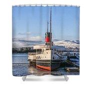 Loch Lomond Paddle Steamer Shower Curtain