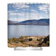 Loch Torridon Panorama Shower Curtain