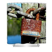 Lock And Chain Shower Curtain