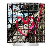 Lock And Love.cinque Terre.italy Shower Curtain