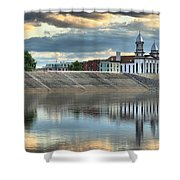 Lock Haven In The Susquehanna Shower Curtain