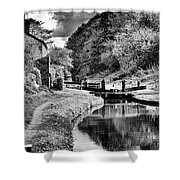 lock Number 13 BW Shower Curtain