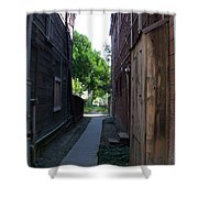 Locke Chinatown Series -  Alleyway With Trees - 4 Shower Curtain