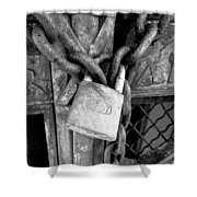 Locked - Black And White Shower Curtain