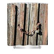 Locked Wood Shower Curtain