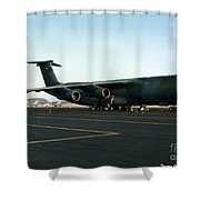 Lockheed C-5 Galixy Shower Curtain