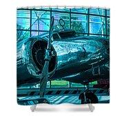 Lockheed Electra Shower Curtain