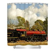 Locomotion Shower Curtain by Robert Frederick