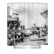 Locomotive, 1929 Shower Curtain