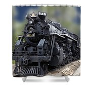 Locomotive 639 Type 2 8 2 Front And Side View Shower Curtain