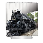 Locomotive 639 Type 2 8 2 Out Of Bounds Shower Curtain