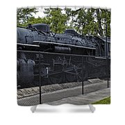 Locomotive 639 Type 2 8 2 Side View Shower Curtain