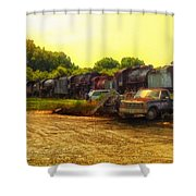 Locomotive Graveyard Shower Curtain