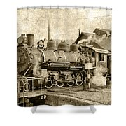 Locomotive No. 15 In The Yard Shower Curtain