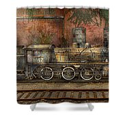 Locomotive - Our Old Family Business Shower Curtain by Mike Savad