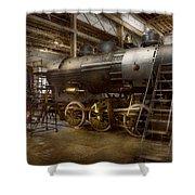 Locomotive - Repairing History Shower Curtain