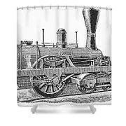 Locomotive Sandusky, 1837 Shower Curtain