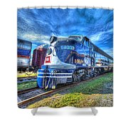 Locomotive Wabash E8 No 1009 Shower Curtain