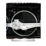 Locomotive Wheels 2 Shower Curtain